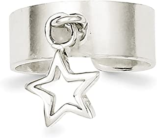 Lex & Lu Sterling Silver Star Dangle Toe Ring