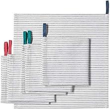Ikea Gruppera Napkin White Black 13x13 503.577.28