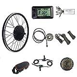 Schuck Bicicleta eléctrica de Rueda Trasera 48V 1000W 20'/ 24' / 26'/ 27.5' / 28'/ 700C con Motor de Cubo Trasero sin escobillas, Pantalla LCD7 Kit conversión de Bicicleta eléctrica (48V 26 Inch)