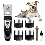 ZOVI Pet Grooming Clippers Cordless Low Noise Dog Shavers Clippers Powerful Dog Trimmer Rechargeable Pet Dog Hair Clippers Electric Hair Clippers Blade Length Adjustable Set for Dogs Cats