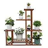 medla Estanterias para Macetas de Bambú, Soporte para Plantas con 6 Niveles Escalera Decorativa para Plantas Interior Exterior Oficina Jardín Patio Balcón Salón 94.6 x 25 x 96cm