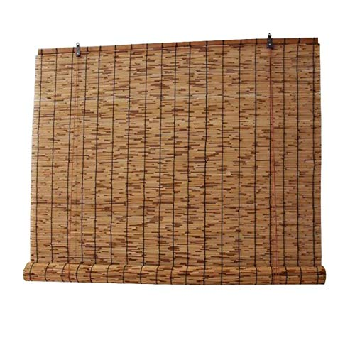 MY1MEY Persianas, Persianas de bambú, Persianas de caña Natural, Cortina de Paja Vintage, decoración de Sala, para Puertas, pabellones, pérgolas, Balcones, 2 Piezas(140x280cm/55x110in)