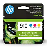 Original HP 910 Cyan, Magenta, Yellow Ink Cartridges (3-pack) | Works with HP OfficeJet 8010, 8020 Series, HP OfficeJet Pro 8020, 8030 Series | Eligible for Instant Ink | 3YN97AN