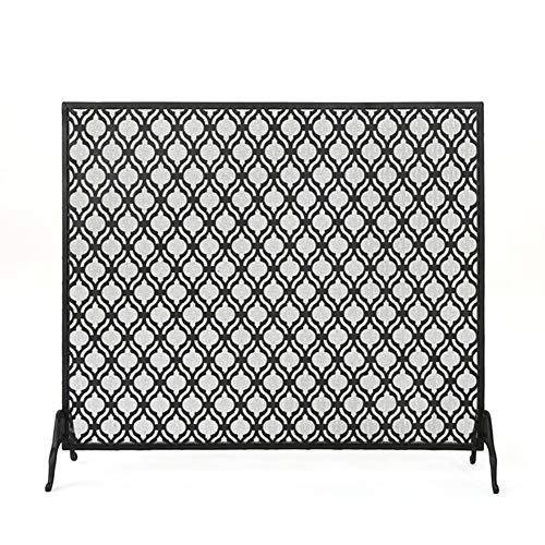 Fantastic Prices! Fireplace Screens MYL Large Ornate Safety Fire Screen Spark Guard - Wrought Iron S...