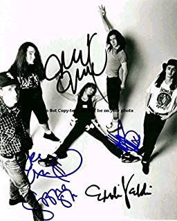 Pearl Jam Full Band Autographed Preprint Signed 11x14 Poster Photo