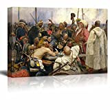 wall26 - Reply of The Zaporozhian Cossacks to Sultan Mehmed IV of The Ottoman Turkey Empire by Ilya Repin - Canvas Print Wall Art Famous Painting Reproduction - 16' x 24'