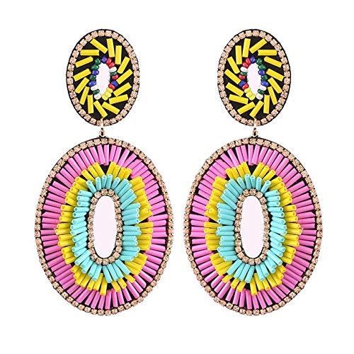Orecchini con strass a forma di bocca per le donne Orecchini grandi di cristallo Orecchini da sposa di lusso OrecchiniE1315 Colorato