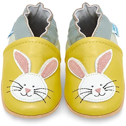 Juicy Bumbles Chaussures Bébé - Chaussons Bébé Cuir Souple - Lapin 6-12 Mois