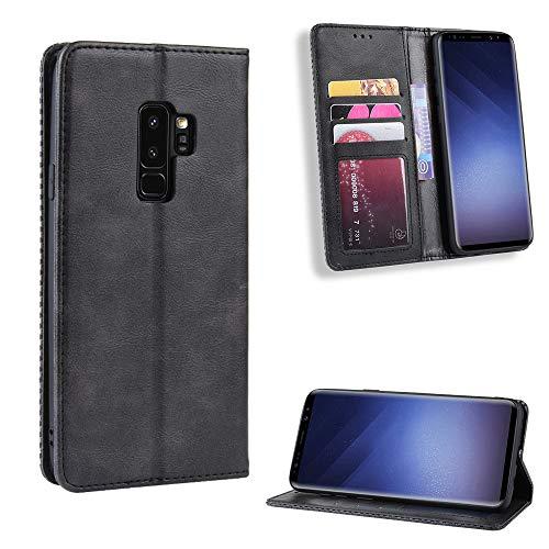 Snow Color Galaxy S9 Hülle, Premium Leder Tasche Flip Wallet Case [Standfunktion] [Kartenfächern] PU-Leder Schutzhülle Brieftasche Handyhülle für Samsung Galaxy S9/G960F - COBYU010252 Schwarz