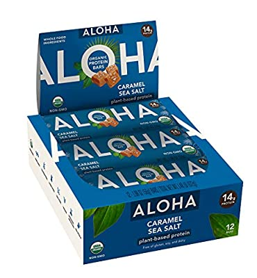 ALOHA Protein Bar, Vanilla Almond Crunch, 12 Count (Packaging May Vary)