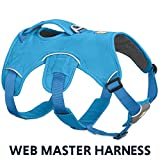 RUFFWEAR - Web Master, Multi-Use Support Dog Harness, Hiking and Trail Running, Service and Working, Everyday Wear, Blue Dusk, Medium