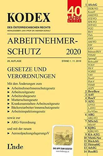 KODEX Arbeitnehmerschutz 2020 (Kodex des Österreichischen Rechts)