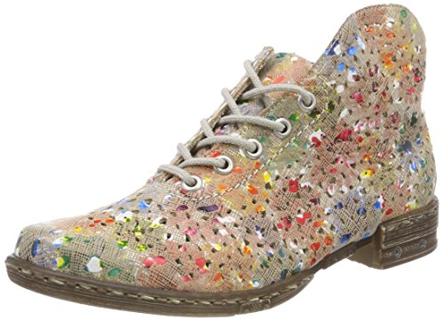 Rieker Damen M1835 Desert Boots, Mehrfarbig (Ginger-Multi), 36 EU