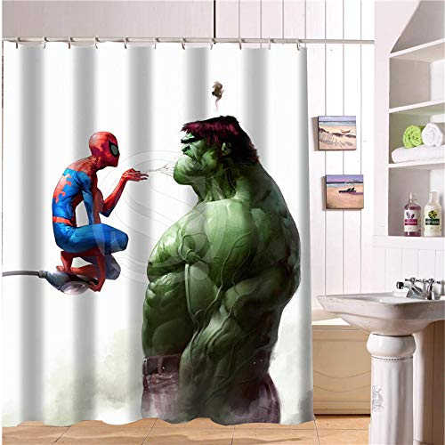 Shuli888 Custom-The-Avengers-Marvel-Held-Duschvorhang-Neue-große-europäische-&-amerikanische-große-Ideen-Print-Edition