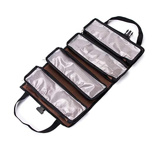 Outil Pochette avec fermeture Eclair Coton Toile Outil Sac QEES Petit Sac à outils 4 packs Sac