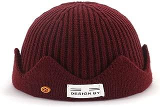 MZHHAOAN Knit Hat Korean Version of Autumn and Winter Couple en Melon Cap Warm Headgear Male and Female Cap
