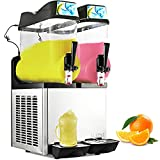Happybuy 110V Commercial Slushy Machine 1600W Stainless Steel Margarita Smoothie Frozen Drink Maker Suitable Perfect for Ice Juice Tea Coffee Making