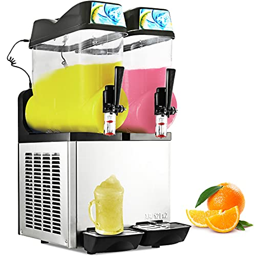Happybuy 110V Commercial Slushy Machine 1600W Stainless...