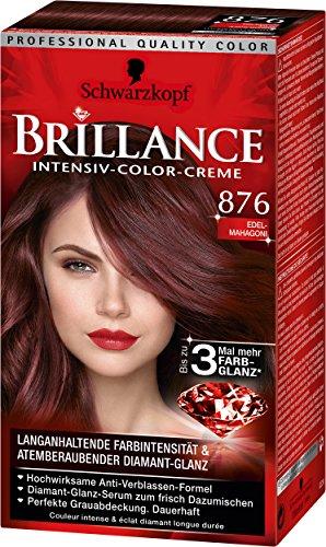 Brillance Intensiv-Color-Creme 876 Edelmahagoni, 3er Pack (3 x 143 ml)