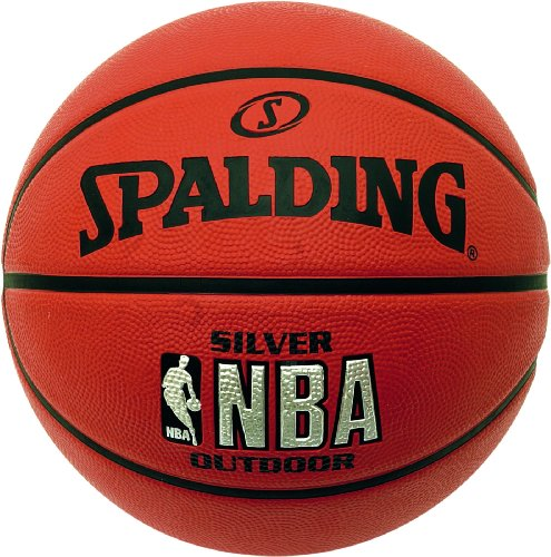 Spalding Herren Basketball NBA Silver Outdoor, Orange, 3001592010017
