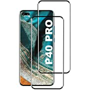 KUTUKU Panzerglas Schutzfolie for Huawei P40 Pro, [2 Stück] [Case Friendly] [Blasenfrei] [9H Härte] [Anti-Kratzer] [Anti-Fingerabdruck] Hohe Qualität GehärtetemPanzerglasfolie für Huawei P40 Pro