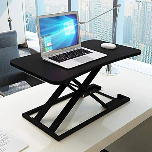 MWXFYWW Office Computer Standing Desk Height Adjustable, Ergonomic Sit to Stand Converter Work Station Easy to Adjust, Monitor Riser Stand Slim Folded Design for Laptop(Color:1,Size:(20x15inch))