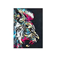 アートワークキャンバスポスター印刷グラフィックホームデコレーションのための現代アニマルウォールアートピクチャーCuadros絵画抽象的なカラフルなライオン (Color : MPS 001E, Size : 40x60cm No Frame)