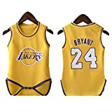 Babys Basketball Uniform-Lakers 24#、#23james Breathable Print Mesh Breathable Basketball Suit、Suitable for Babys、Birthday Gifts、Fan Gifts、1 Year Old-#24-9