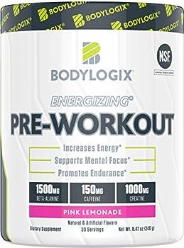 30 Servings Bodylogix NSF Certified Energizing Pre-Workout Powder