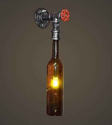 Iluminación De Interior Amazon esLamparas Hierro Botellas nOP80Xwk