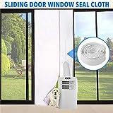 mysticall 90x120cm Universal Zipper Screen Türdichtung Fensterdichtung, Mobile Schiebetür Fensterdichtung für tragbare Klimaanlage und Wäschetrockner Dichtung