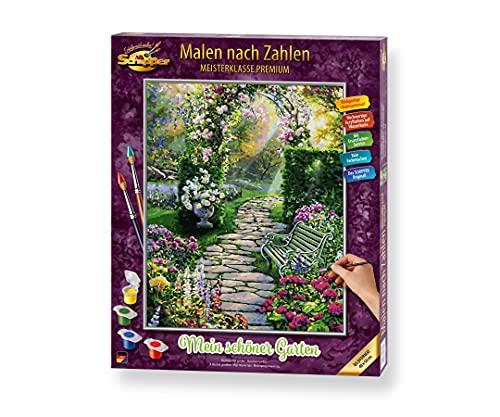 Schipper 609130804 Malen nach Zahlen, Mein schöner Garten - Bilder malen für Erwachsene, inklusive Pinsel und Acrylfarben, 40 x 50 cm