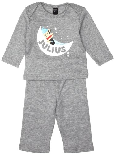 Paul Frank Mädchen Pyjama Weiß-Grau, 3 Monate