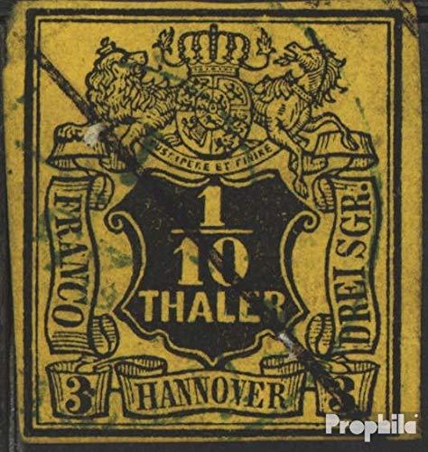 Prophila Collection Hannover (Altdeutschland) 5 Pracht 1851 Wertschild (Briefmarken für Sammler)