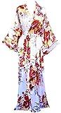Women's Long Ankle Length Robe Women Plus Size Nightgowns Off White, 2XL/3XL