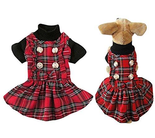 Cuadros Cuadros de vestido de falda escocés Kilts Pet niña pequeño ...