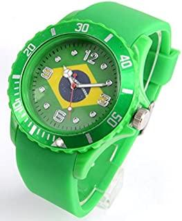 Brazil Sports Silicon Analog Quartz Watch - Shipped from USA