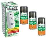 COPYR | Kenyasafe Extra e Copyrmatic Combi: Insetticida Pronto all'Uso Contro Insetti Volanti, Mosche e zanzare - bombola 250 ml x 3 Pezzi + Erogatore Automatico