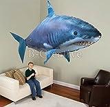 Control remoto dirigible inflable globo nadador de aire volador Nemo amd Flying Shark Toy Nuevo (Tiburón volador)