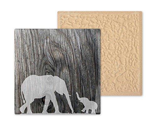 Olifant met Baby Design Decoratieve Keramische Tegel- Ideaal nieuw huis cadeau of housewarming cadeau
