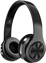 JUNWER Active Noise Cancelling Headphone Bluetooth Headphones Microphone Hi-Fi Deep Bass Wireless Headphones Over Ear 30H Playtime Travel Work TV Computer Phone (Black)