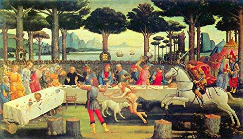 The Museum Outlet - Schilderijen op Boccaccio's Decameron Derde aflevering door Botticelli - Poster Print Online kopen (30 X 40 Inch)