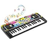 Shayson Kids Piano Keyboard, 37 Keys Electronic Piano Keyboard for Kids Multifunction Portable Music Instrument Birthday Xmas Gifts for Kids Toys for 3 4 5 6 7 Years Old Girls Boys