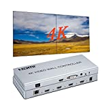 4K 2x2 Video Wall Controller HDMI/DVI Entradas 4 Splicing Pantalla HDMI Salida Video Processor Apoyo 1X1 1X2 1X3 3X1 1X4 4X1