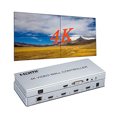 4K 2x2 Video Wall Controller HDMI/DVI Entradas 4 Splicing Pantalla HDMI Salida Video Processor Apoyo 1X2 2X2 1X4