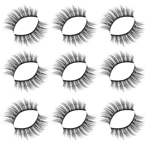hahuha Schönheit, Luxury 9Paire 3D False Lashes Fluffy Strip Eyelashes Long Natural Party Makeup