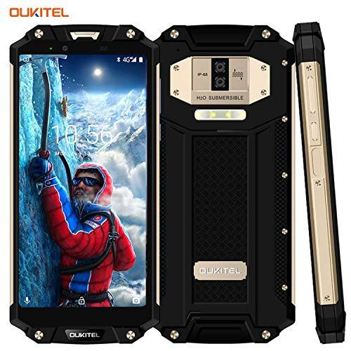 OUKITEL WP2 Outdoor Handy 10000mAh IP68 Smartphone, ohne Vertrag 6 Zoll FHD+ Display 4GB RAM 64GB Dual SIM, 16MP+2MP+8MP Wasserdicht Stoßfest Staubdicht Fingerabdruck NFC-Gold