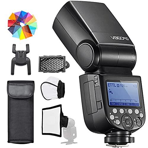 Godox V860III-C E-TTL II Flash 1 8000s 2.4G GN60 HSS fotocamera Flash Speedlite con batteria ricaricabile 450 Ful Power Flash compatibile con Canon EOS 6D M50 Mark II 90D (V860III-C)