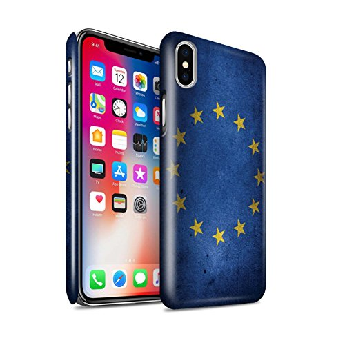 Stuff4® Phone Case/Cover/Skin/IP-3DSWG/Great Britain/British Pride Collection Apple iPhone X/10 EU-vlag