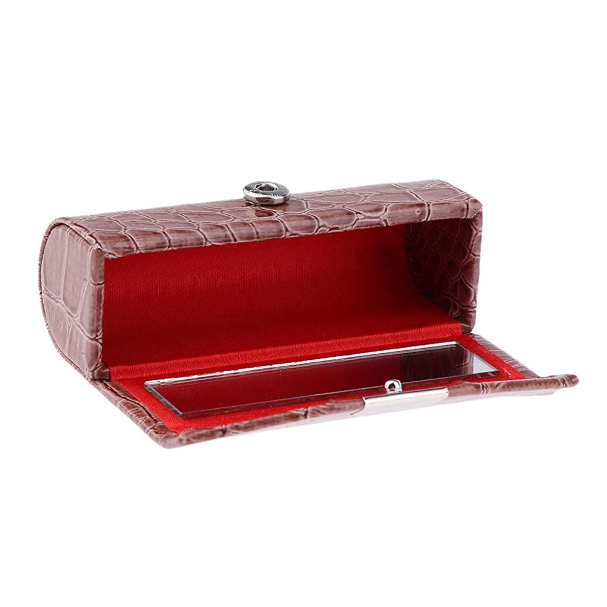のホスト数字アイドルB Blesiya 口紅ケース コインケース 小物入り 収納ケース リップスティック 多色選べ - 褐色